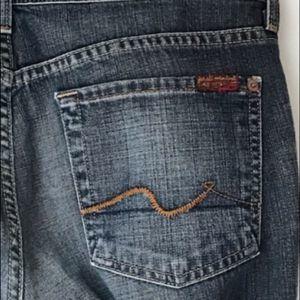 7FAMK Dark blue boot cut jeans